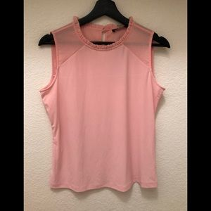 Casual pink Sleeveless top